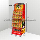 Hochwertiger drei Gummireifen-Pappkostenzähler-Ausstellungsstand für Energie