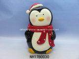 Vaso di ceramica di memoria del pinguino per la decorazione di natale