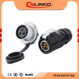 Plastique industriel Cnlinko fil étanche IP67 mâle et femelle des connecteurs de câble de plein air les connecteurs de puissance de déconnexion rapide
