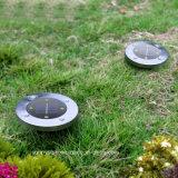 4 LED solaire lumière Métro Jardin extérieur enterré la lumière solaire pour yard carré Chemin du paysage