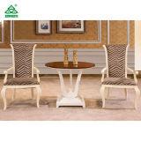 Leistungsfähige moderne Esszimmer-Tische, runder Teakholz-Esszimmer-Tisch und Stühle
