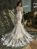 Самое новое без бретелек платье венчания Mermaid шнурка