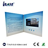 Förderndes videobroschüren-Geschäfts-Geschenk verwendet ein 7 Zoll-Video-Broschüre