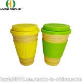 435ml, das biodegradierbare Bambusfaser-Kaffeetasse mit Silikon-Kappe und Verpackung trinkt