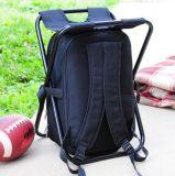 Falz-Stuhl-/Schemel-Nahrungsmittelgetränk-Mittagessen-Einkaufen-Ausflug/Fischen-kampierender kühlerer Beutel/Rucksack