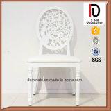 白いカラー丸背の革座席の宴会の椅子