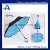 Het promotie Handsfree Rechte Omgekeerde van de Gift keerde paraplu-004 om