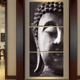 Retrato Home moderno abstrato quadro da arte da parede da pintura da cópia da lona da decoração de 3PCS Buddha para o retrato modular da sala de visitas