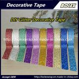 Multifunción Glitter Glitter cinta cinta adhesiva utilizada para el embalaje de regalo, la escuela, la decoración de oficina
