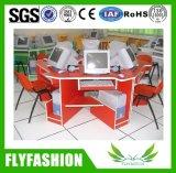 Deux places en bois de gros de la table d'ordinateur (PC-16)