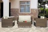 Алюминиевая рама PE плетеной открытый диван, Садовая мебель