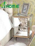 寝室のためのホーム装飾の金ミラーNightstand