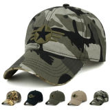 Chapeau militaire d'armée de Camo 6 de panneaux de Snapback de casquette de baseball faite sur commande de chapeau