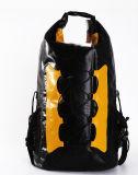 Migliore zaino nero impermeabile militare superiore del sacchetto asciutto del rullo 40L per l'escursione e navigare
