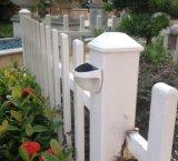 Lampes de mur imperméables à l'eau extérieures de creux de la jante de frontière de sécurité d'éclairage LED du panneau 6 d'énergie solaire de pelouse de jardin