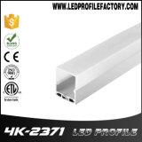 Extrusion en aluminium de barre d'éclairage LED de profil de 4237 DEL