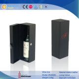 De aangepaste Doos van de Gift van de Wijn van het Leer van het Embleem Zwarte (8405)