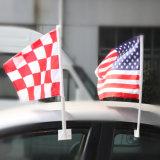 Дешевый рекламируя изготовленный на заказ флаг автомобиля с Поляк для сбывания