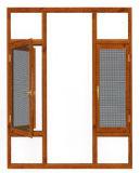 Openslaand raam het Van uitstekende kwaliteit van de Legering van het Aluminium van het Glas van Heph