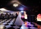 Schwarzweiss-Hochzeits-Tanz-Bodenbelag Furnierholz-Dance Floor-DIY beweglicher