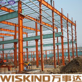 Casa de pollo económica de la estructura de acero de la luz del almacén