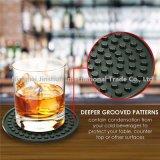 Coasters profundos da bebida da esteira dos vidros bebendo da bandeja