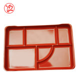 Rectángulo de Bento del almuerzo del servicio de mesa del descuento de la melamina de Sexpand del producto de la muestra libre