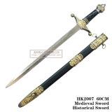يدويّة تقليد سيف [إيوروبن] فارسة خنجر خنجر تاريخيّة [60كم] [هك2007]