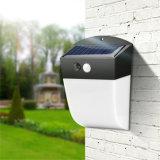 LED de luz exterior para jardín lámpara solar LED de pared