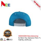 帽子の工場カスタム3D刺繍のロゴのライニングが付いている花の5つのパネルの帽子