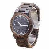 일본 운동을%s 가진 도매 형식 백단향 손목 시계 나무로 되는 시계