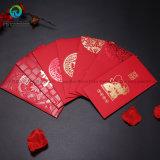 Bolsillo/sobre/regalo rojos de la impresión del papel de Año Nuevo