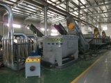 Sacchetti e pellicola di imballaggio di plastica dell'alimento residuo che tagliuzzano macchinario di lavaggio