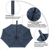 가득 차있는 까만 섬유유리 프레임 똑바른 골프 우산