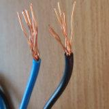 7 encalhou o fio elétrico isolado PVC de cobre do condutor