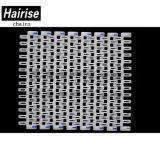 POM blanc Hairise Har-7300 au ras de la grille de la courroie du convoyeur