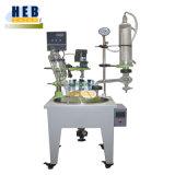 Reactor multifunción/Reactor de vidrio de una sola capa de baño con calefacción y el chiller (HB-10L)