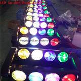 het LEIDENE 8X10W RGBW Bewegende Hoofd LEIDENE van de Straal Licht van de Spin