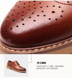 黒い本革メンズ毎日の摩耗の鋼鉄つま先を搭載する一義的なDesiginのオフィスの靴