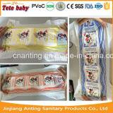 La couche-culotte de bébé la meilleur marché des prix de couche-culotte remplaçable de bébé de film de PE avec l'indicateur d'humidité