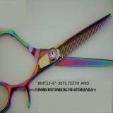 Estilo nueva empuñadura simplificado Rainbow Adelgazamiento tijeras de peluquería