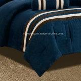 Insieme blu scuro dell'assestamento del Comforter degli adulti dell'assestamento della rappezzatura