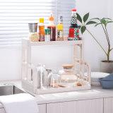 부엌은 플라스틱 저장 선반 두 배 갑판 거실 저장 화장실 세면용품 간단한 현대 저장 선반을 선반에 놓는다