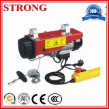 Élévateur électrique portatif de câble métallique mini pour le levage