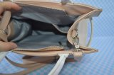 Contrast Color PU Women Handbag Top concerning Zip Closure Belt feature
