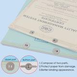 Venta caliente el cuaderno de diferentes tamaños de papel de plata