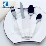 Coltelleria rotonda di ceramica elegante del metallo del nero della maniglia per i ristoranti