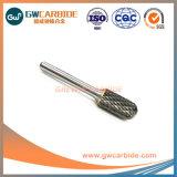 A, B, C, H de carboneto de tungsténio fundido de alumínio rebarbas rotativo