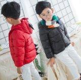 Мальчика и девушки детей куртка вниз с малым пальто пера рожочка вола