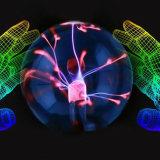 Vidrio luz mágica de la bola del plasma de 6 pulgadas para el partido